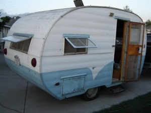 1955 Empire Trailer. I based Suprema's on this model. [Image Credit: Tin Can Tourists]